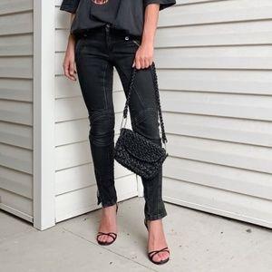 burberry brit anika moto skinny jeans